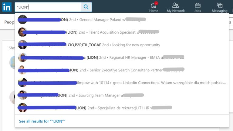 LION na LinkedIn - DorisInSocialMedia